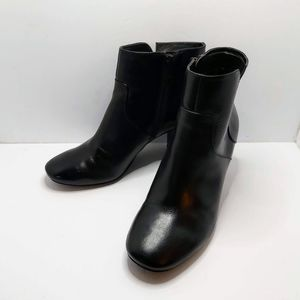 Nine West Black Women's Leather Ankle Boots Sz 6